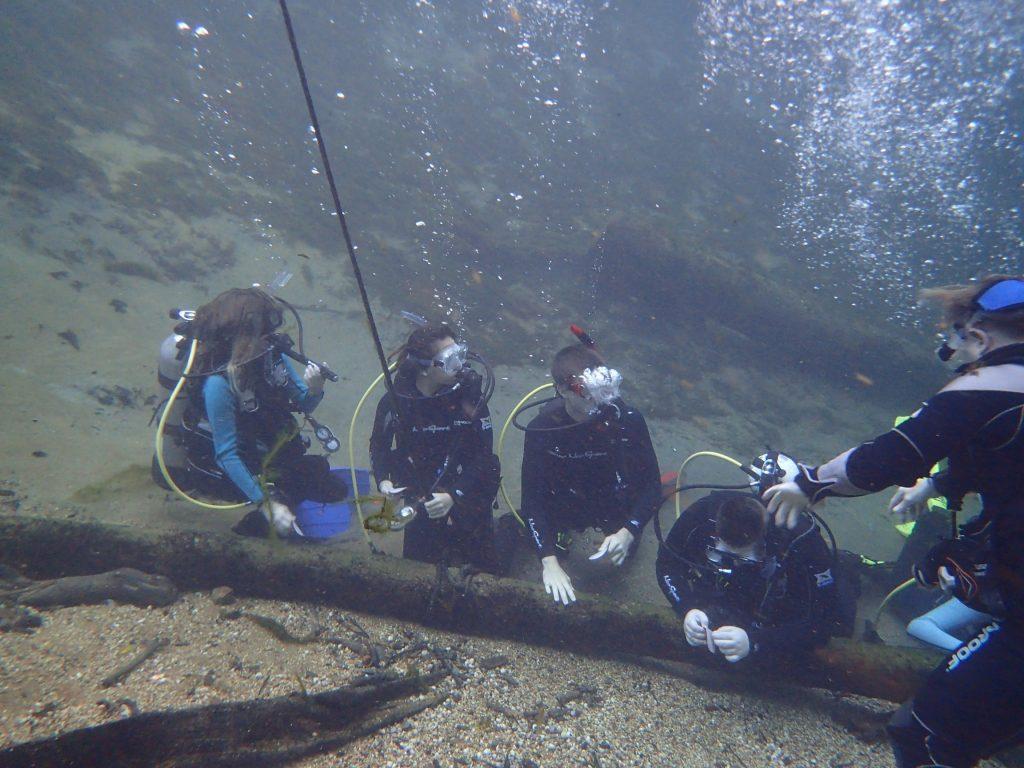 Training underwater