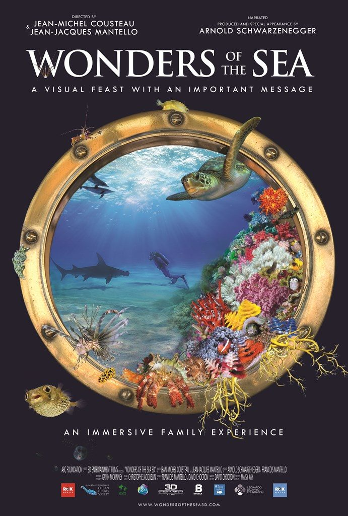 Poster and Logo for Wonders of the Sea in 3D