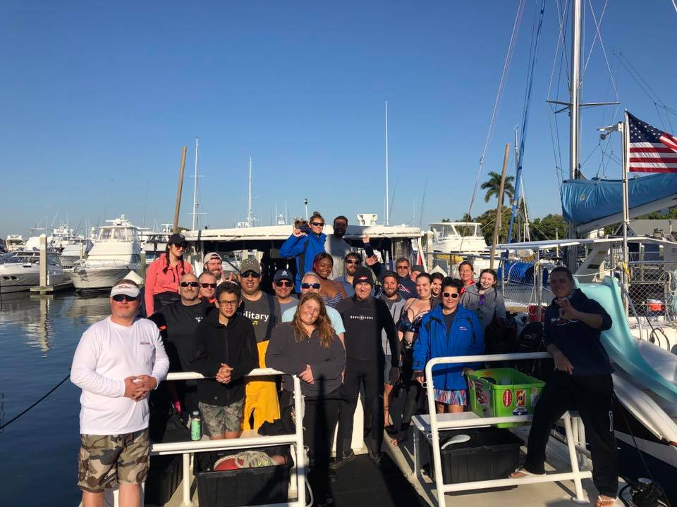 Sea Experience's first clean up dive of 2019